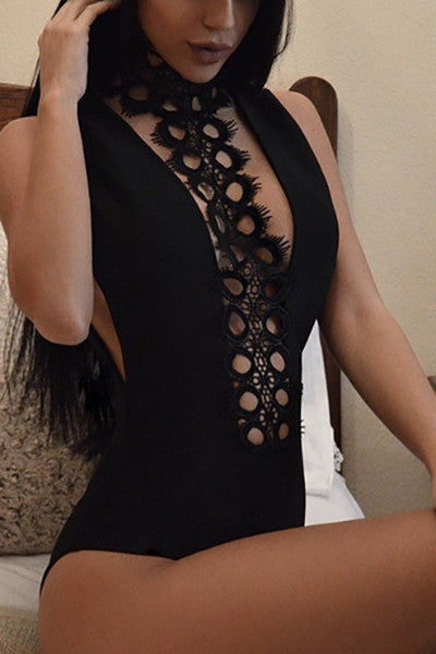 Chocker Plunge Bodysuit