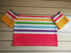 Rainbow Bandeau Crop Top