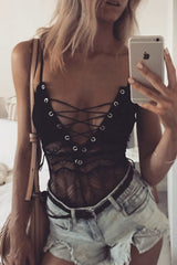 Melly Lace Up Bodysuit