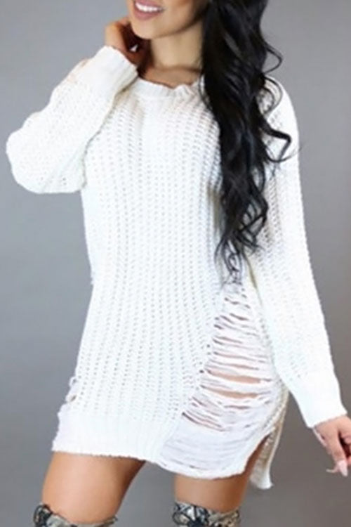 Sami Distressed Sweater Dress