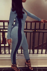 Marl Zip Jumpsuit