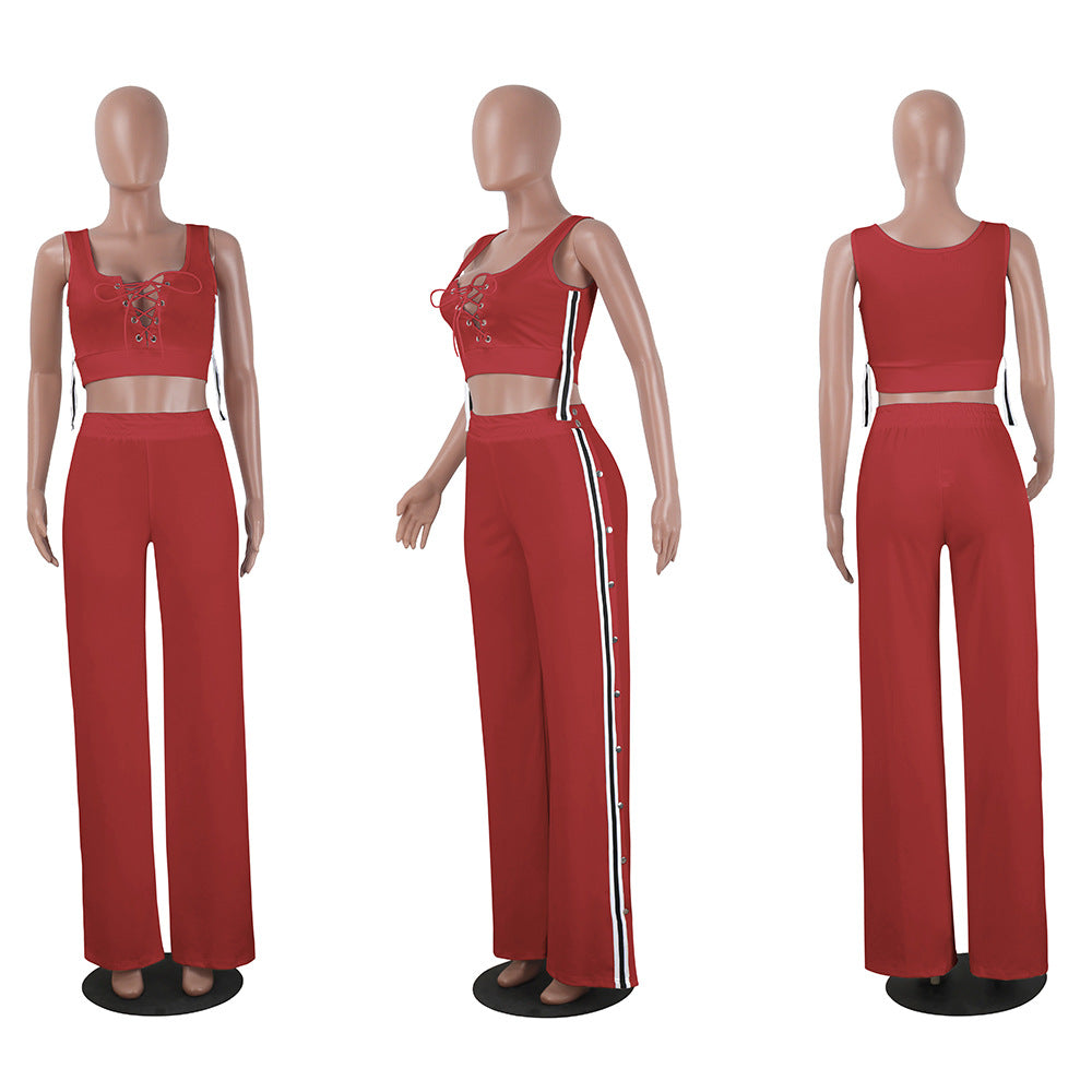 Oma Button Side Lounge Jumpsuit