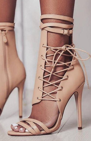 Sade Side Lace Heels