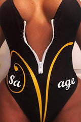 Savage Zip Swimsuit
