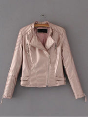 Ribbed Biker Jacket