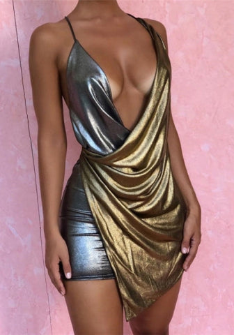 Glam Drape Dress