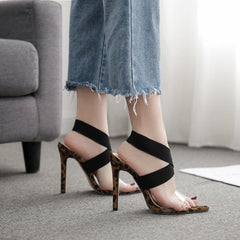 Cross Sole Print Heels