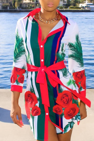 Demi Floral Shirt Dress