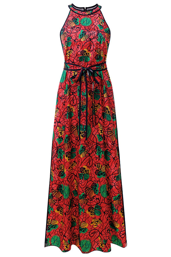 Ankara Maxi Split Dress