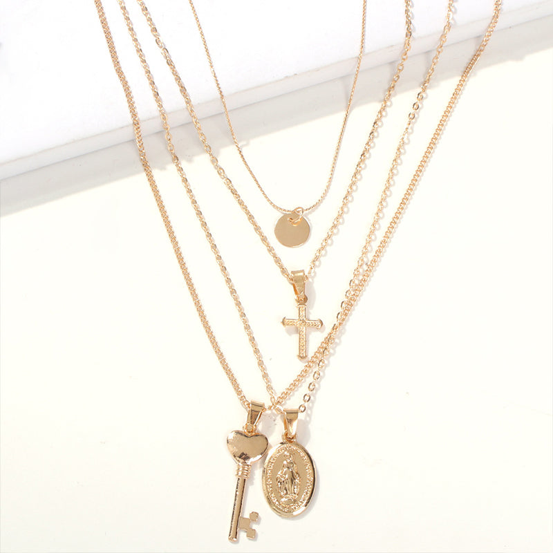 Multi Key Charm  Necklace