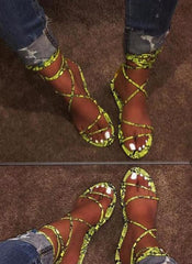 Snake Wrap Tie Sandals