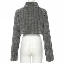 Turtleneck Flow Crop Top
