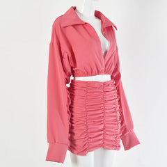 Ruby Ruffle Sleeve Set