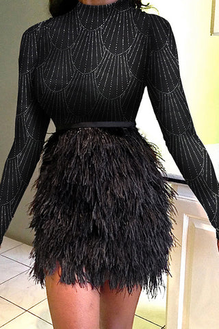 Feather Bottom Dress