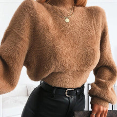 Teddy Turtleneck Top