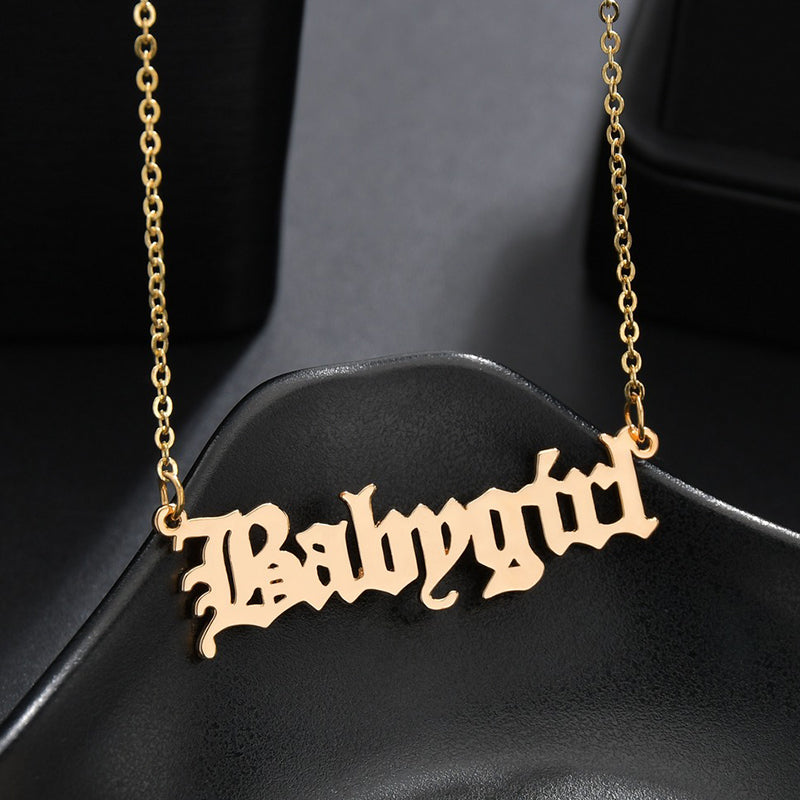 Babygirl Pendant Necklace