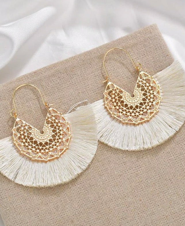 Grand Tassel Earring
