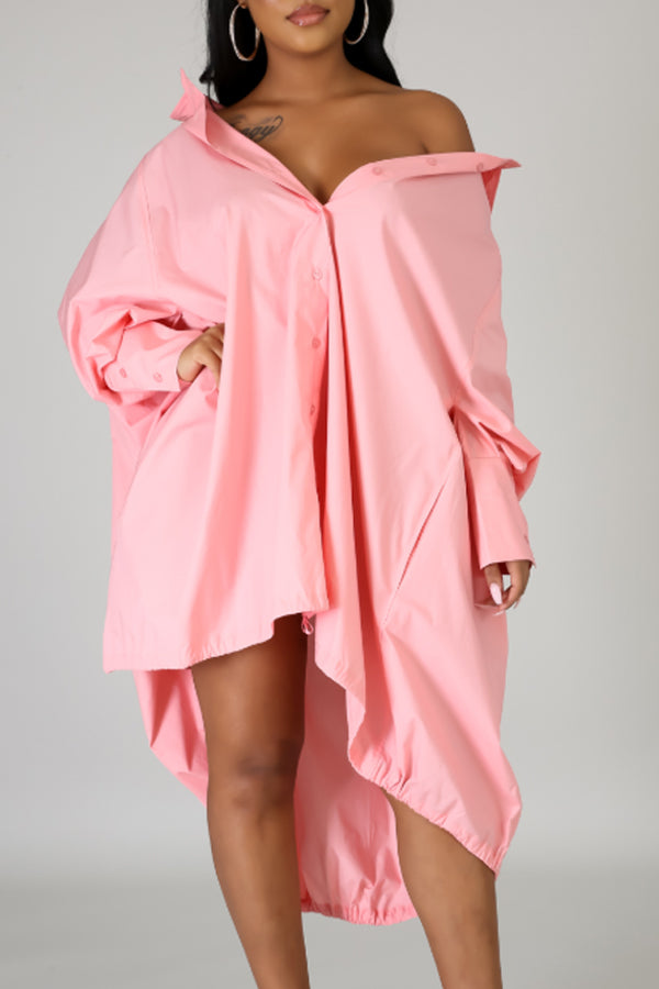 Slouch Shirt Dress