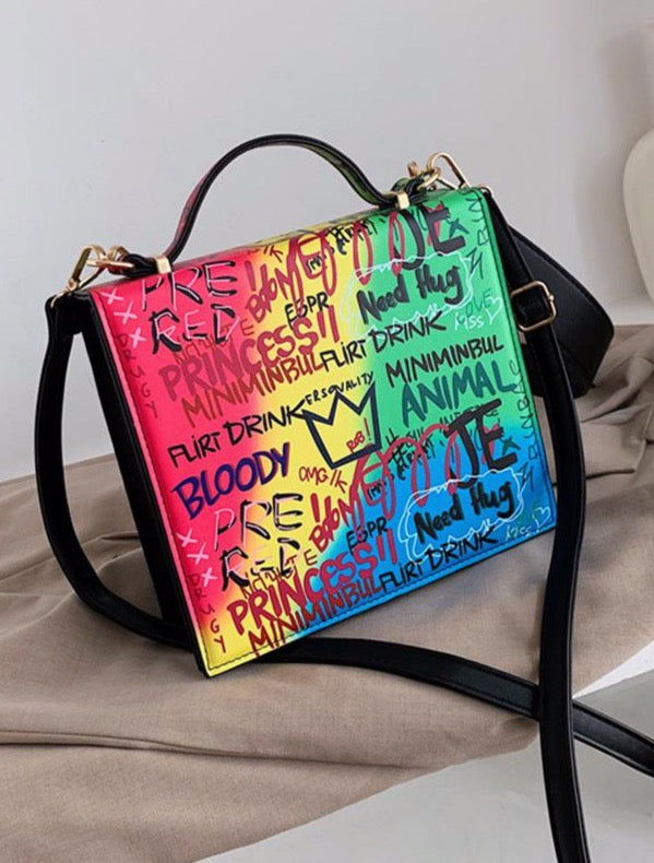 On Top Satchel Graffiti Bag
