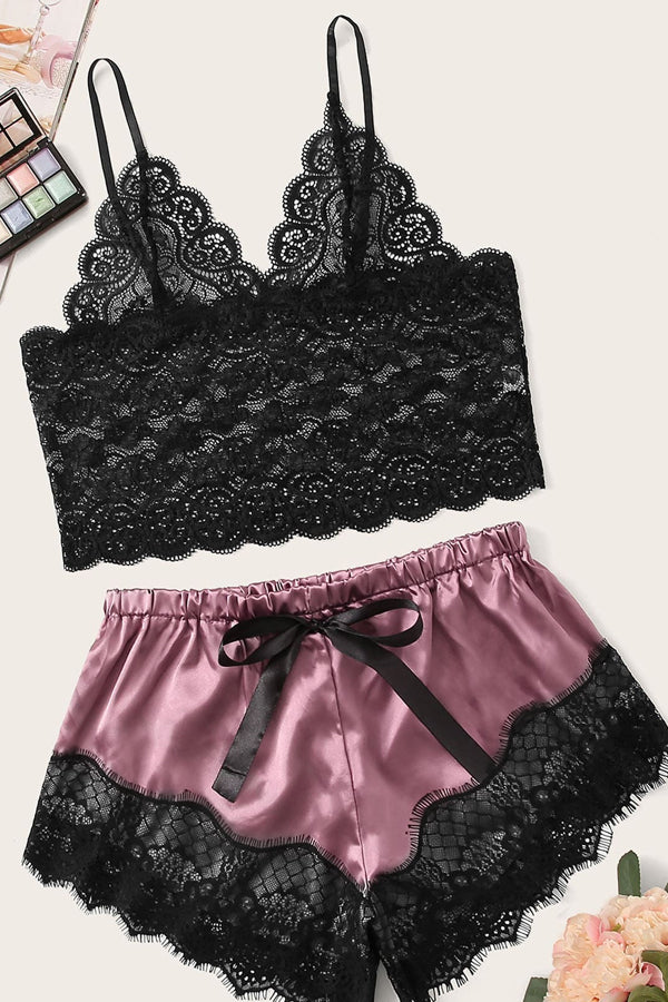 Floral Lacey Night Set