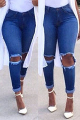Kia Knee Cut Jeans