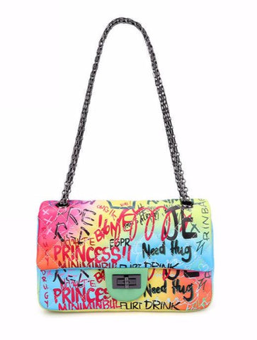Go Mode Graffiti Chain Bag