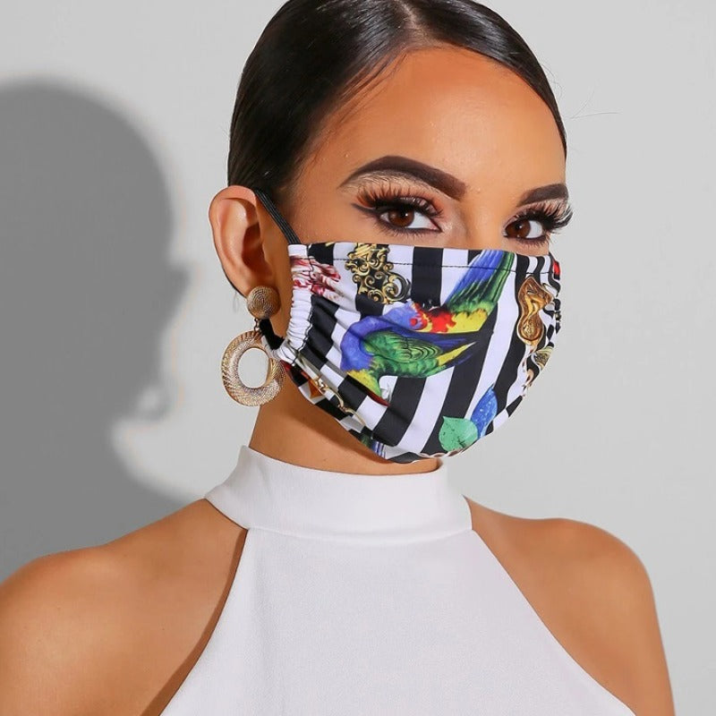 Peacock Print Face Mask