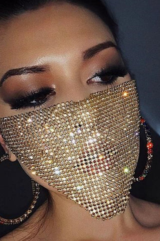 Sammie Sequinned Face Mask