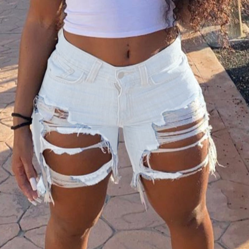 Ria Ripped Denim Shorts