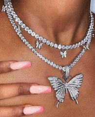 Dual Butterfly Necklace