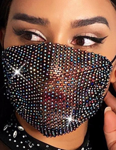 Oh Sequinned Face Mask