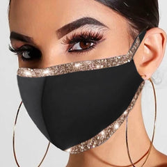 Glitz Trim Face Mask