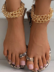 Snaked Chained Sandals