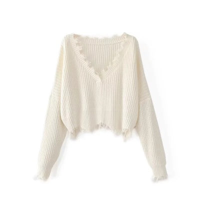 Ria Ripped Edge Sweater