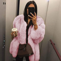 Bubble Faux Fur Coat
