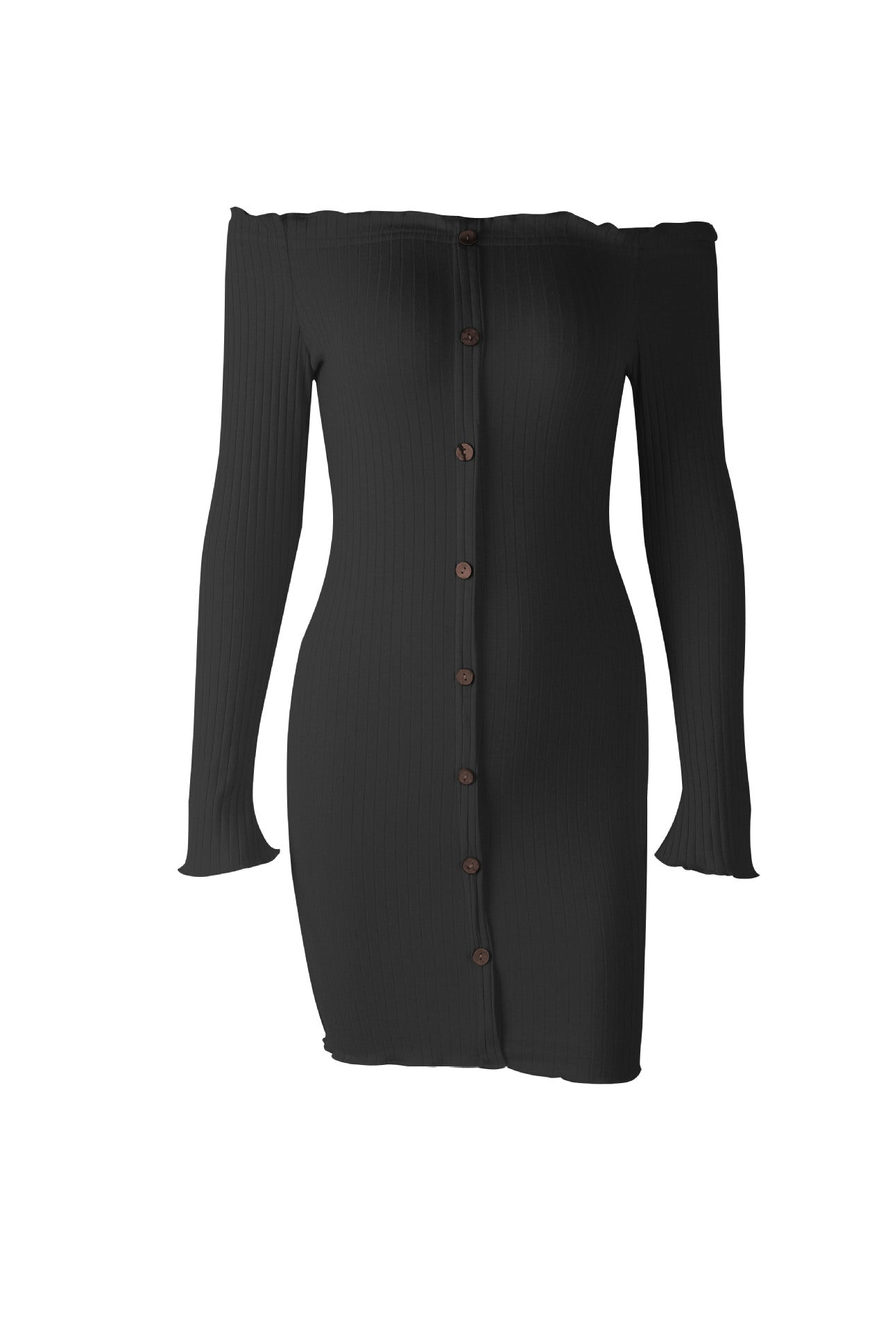 Button Up Bodycon Dress