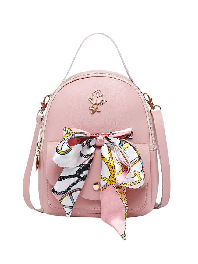 Rose Scarf Backpack