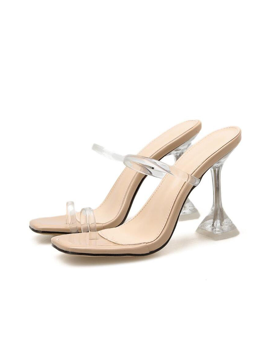 Clear As Day Cubed Heels