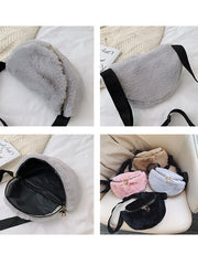 Michelle Faux Fur Bum Bag