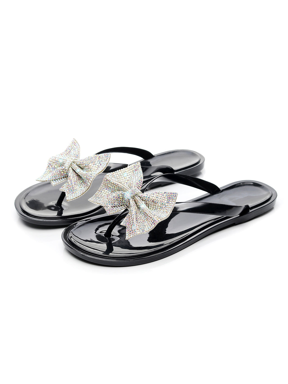 Gem Bow Jelly Sandals