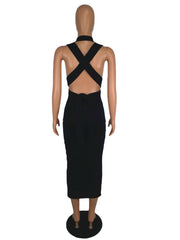 Issa Cross Back Dress