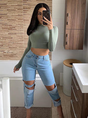 Lap Ripped Jeans