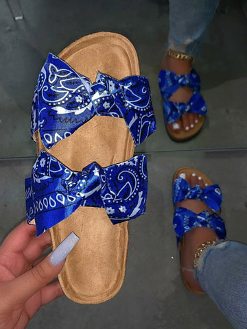 Bandana Bow Slides