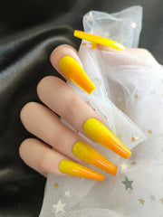Yellow Ombre Press on Nails