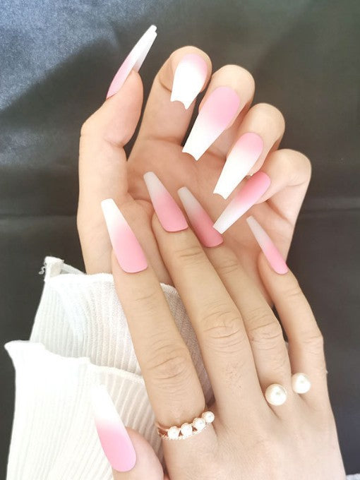 Matte Ombre Pink Press on Nails