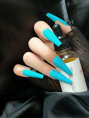Aqua Blue Press on Nails