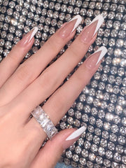 Triangle Nude Press on Nails