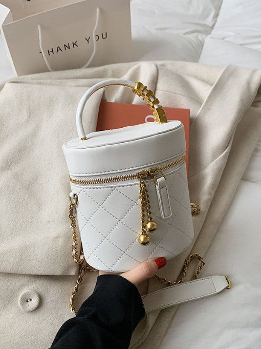 Michelle Qulited Bucket Bag