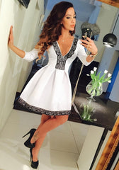 Lace Trim Skater Dress