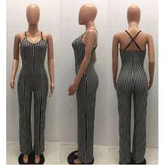 Sauce Striped Jumpsuit